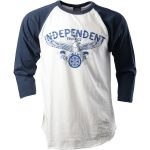Hesh, independent-spread-baseball-tshirt-denim-white