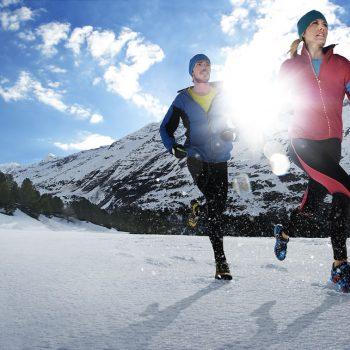 winter running mountain