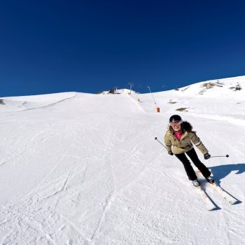 Skiing in Pra Loup